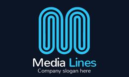 Media Lines - Letter M Logo
