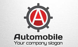 Automobile - Letter A Gear Logo