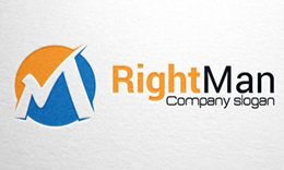 Right Man - Letter M logo