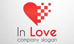 In Love - Heart Logo