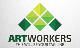 Art Workers - Letter A logo