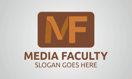 MEDIA FACULTY - LETTER M F LOGO