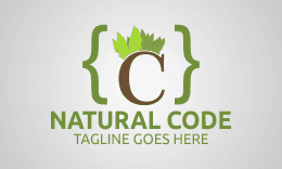 Natural Code -Letter C Logo