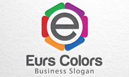 Eurs Colors, Letter E, H, A & S Logo Pack - 4 in 1