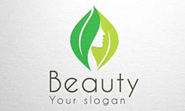 Beauty - Face in Leafs Logo
