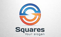 Squares - Letter S Logo