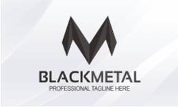 Black Metal - Letter M Logo