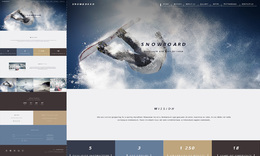 Snowboarder - One Page HTML Template