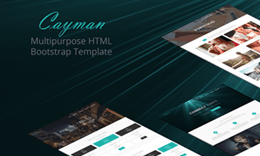 Cayman - HTML Bootstrap Template