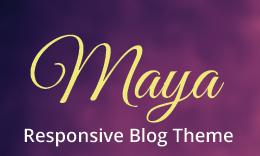 Maya - A WordPress Blog Theme