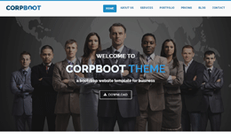 Corpboot Corporate Website Template
