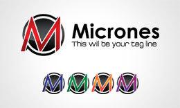 Micrones/M Letter Logo