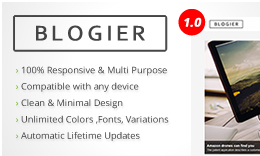 Blogier - Blog & Magazine Multipurpose WordPress Theme