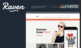Raven- Prevailing Fashion OpenCart theme.