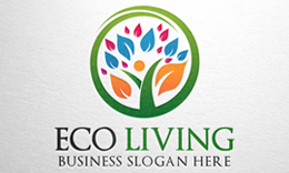 Eco Living - Human Tree Logo