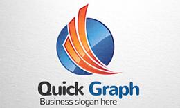 Quick Round - Letter Q Logo & Graph Logo