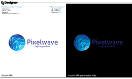 PixelWave Logo Premium