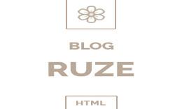 Ruze - Responsive HTML Blog Template