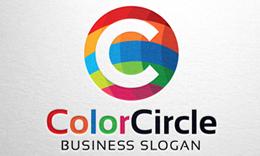 Color Circle, Letter C Logo