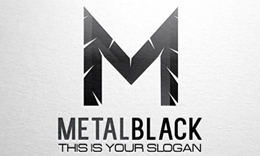 Metal Black, Letter M Logo