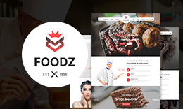 Foodz - Restaurant, Spa & Salon Joomla Template
