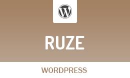 Ruze - WordPress Blog Theme