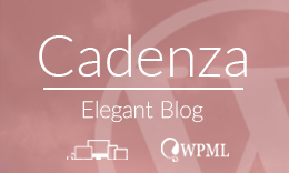 Cadenza - Elegant Wordpress Blog Theme